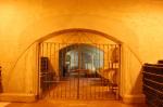 Clos de Chacras - The gate to the barrel rooms.