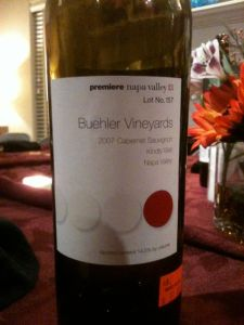 "2007 Buehler Vineyards Cabernet ""Kindly Well"" Napa Valley"