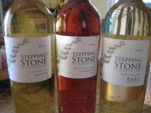 Picnic Wine - Fourth of July Wine Stepping Stone by Cornerstone Napa Valley Rose' Corallina Syrah