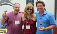Barrysentials He Said ~ She Said wine blog writers with Rob Mellisoni - Owner of Mellisoni Vineyards, Lake Chelan Washington, Those Washington wines!